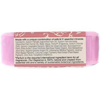 Тройное молотое минеральное мыло с лепестками роз 200 г  фото применение