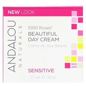 Андалу Нейчералс Дневной крем для чувствительной кожи 1000 роз...  фото применение