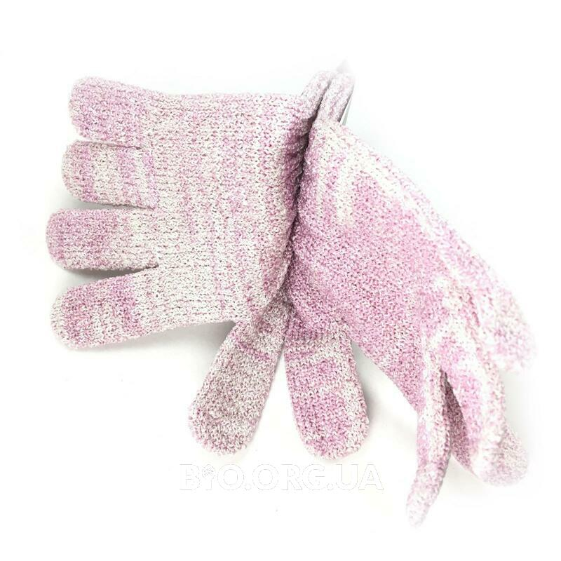 Фото применения Recycled Bath Shower Gloves 1 Pair