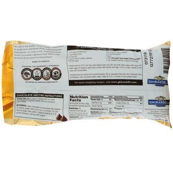 Жирарделли полусладкие шоколадные капли для выпечки 340 г  фото применение