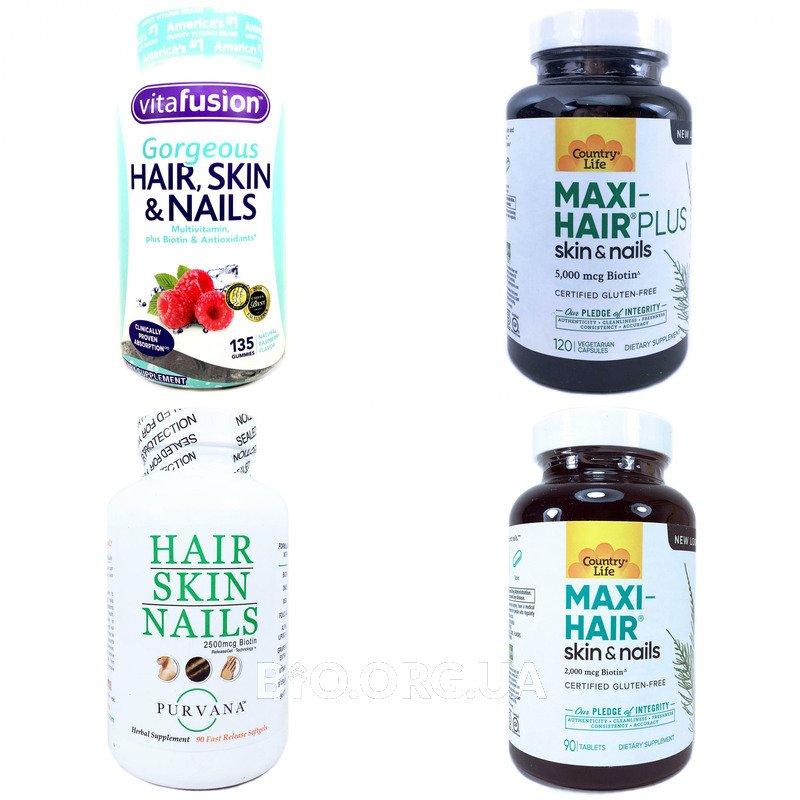 Категория Витамины для кожи, ногтей и волос (Skin Nails & Hair)