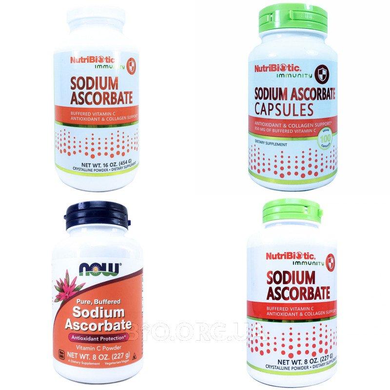 Категория Витамин С, Аскорбат Натрия (Vitamin C, Sodium ascorbate)