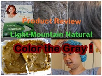 Видео обзор на Натуральная краска для седых волос хна и басма цвет шоколад тё...