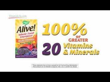 Видео обзор на Нэйчерс Вэй Alive Max Potency Multi Vitamin No Added Iron 180 ...