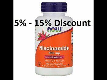 Видео обзор на Ниацинамид витамин В3 500 мг 100 капсул