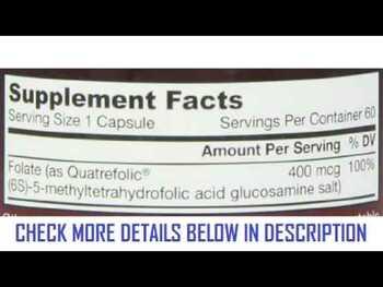 Видео обзор на Метил Фолиевой кислоты 400 мкг 60 капсул