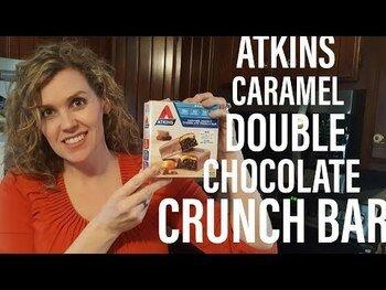 Видео обзор на Аткинс хрустящий батончик Карамель и двойной шоколад 5 батончи...