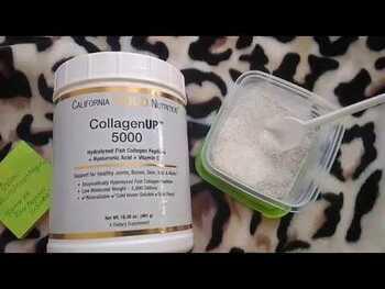 Видео обзор на Рыбий коллаген 5000 мг гидролизованных пептидов коллагена с ги...