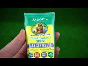Видео обзор на Бадгер Солнцезащитный крем для детей с защитным фактором 30 ро...