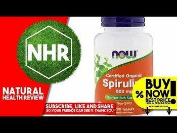 Видео обзор на орагническая Спирулина 500 мг 500 таблеток