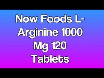 Видео обзор на L аргинин 1000 мг 120 таблеток