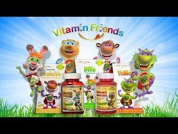 Видео обзор на Витаминные друзья мультивитаминные вегетарианские жевательные ...
