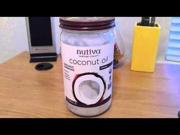 Видео обзор на Нутива органическое нерафинированое кокосовое масло холодного ...