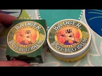 Видео-обзор и фото товара Badger Company Anti-Bug Balm Citronella & Rosemary 21 g