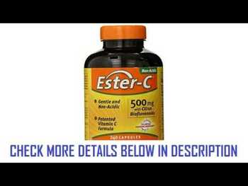 Видео обзор на Эстер-C 500 мг с Биофлавоноидами цитрусовых 225 таблеток